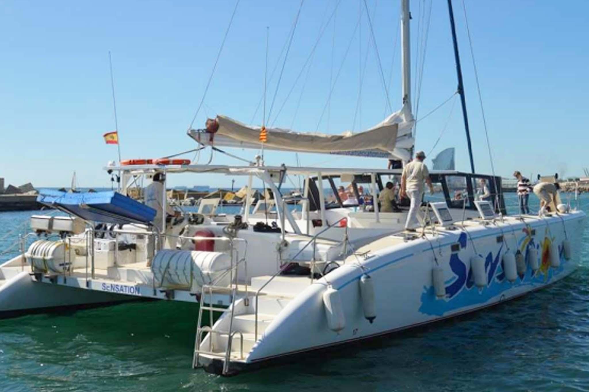 Alquiler Catamaran Sitges 2