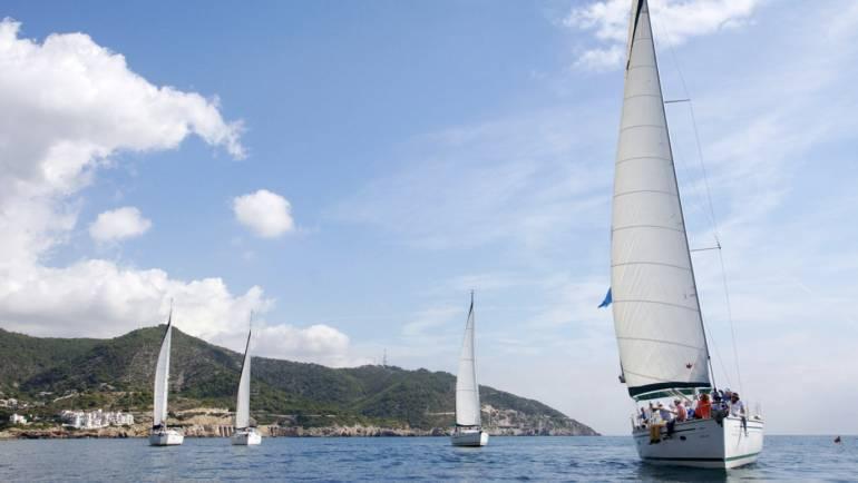 Barcos en Sitges Regatas